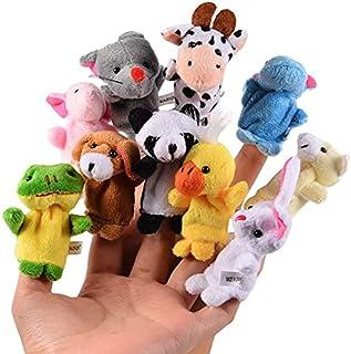 Mumoo Bear Animal Finger Puppets10PCS Velvet Animal Finger Puppets for Toddlers, Velvet Cute Animal Style, Shows, Playtim...