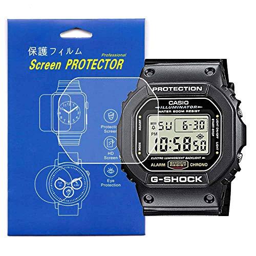[3-Pcs] Screen Protector For Casio DW-5600 G-SHOCK Clear HD Film with Anti-Fingerprint, Anti-Bubble,Anti-Scratch