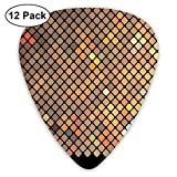Earth Tones Mosaico vibrante de cuadrados diagonales con un acabado negro Celebración del evento Tema multicolor (paquete de 12)