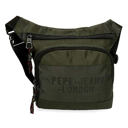 Pepe Jeans Bromley Riñonera Cuadrada Verde 31,5x24x1,5 cms Poliéster