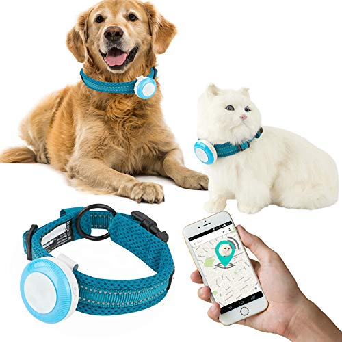 Talis-us New GPS Pet Tracker, Waterproof Smart WiFi Mini Portable Pet Anti-Lost GPS Collar Tracking Device Safety Alarm Safe Geo-Fence Smart or Cats Dogs with App for iPhone & Android