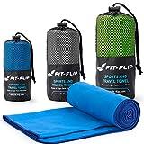 Fit-Flip Blau mit dunkelblauen Rand, 1x 140x70cm | microfaser handtücher für Kinder microfaser handtücher fußball microfaser handtücher Gesicht