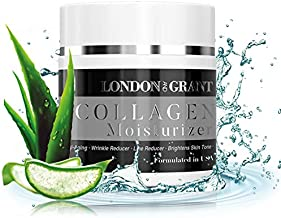 Natural & Organic Collagen Face Moisturizer - Anti Aging Facial Cream - Reduces Appearance of Wrinkles, Dark Circles, Fine Lines & Acne - Formulated with Glycerin & Mineral Oils - 59g / 2fl.Oz
