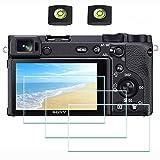 ULBTER Pantalla A6600 Protector appliable para Sony Alpha A6600 cámara y la Tapa de la Zapata, 9H 0.3mm Dureza Vidrio Templado Flim, Anti-Scrach-Huella-Burbuja-Polvo [3 Pack]