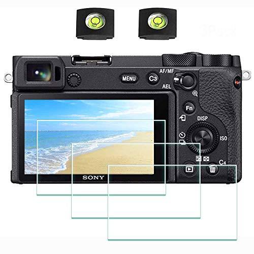 ULBTER A6600 Displayschutzfolie Schutzfolie für Sony Alpha 6600 Kamera & Blitzschuhabdeckung, 9H Härte LCD Gehärtetes Glas Kratzfest Anti-Fingerabdruck Anti-Staub Blasenfrei,3 Stück