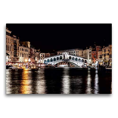 CALVENDO LUCKE - Lienzo (75 x 50 cm, Formato Transversal Venecia, Listo para Colgar, Lienzo