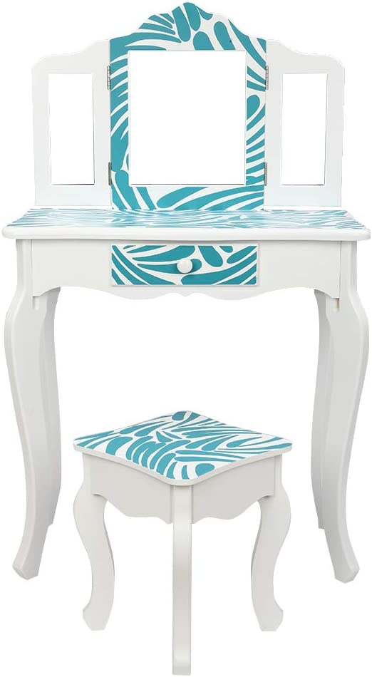 Kcelarec Children Vanity Table and Set Mirror with Chair SALENEW very popular! 67% OFF of fixed price