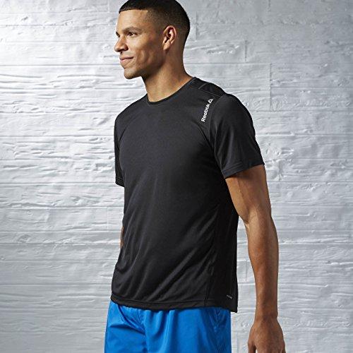 Reebok RE SS tee - Camiseta para Hombre, Color Negro, Talla L
