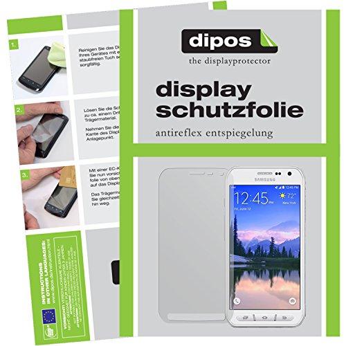 dipos I 2X Schutzfolie matt kompatibel mit Samsung Galaxy S6 Active Folie Bildschirmschutzfolie