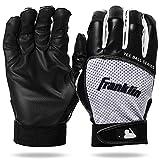 Franklin Sports Youth Teeball Batting Gloves - Youth Flex - Kids Batting Gloves for Teeball, Baseball, Softball - Black/White - Extra Extra Small (21205F00)