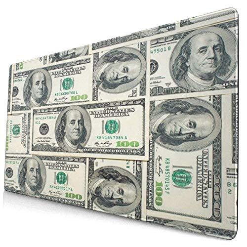 Mousepad Money Dollar Bills der Vereinigten Staaten Gaming Mouse Pad Rechteck Rubber Mouse Pads Mat