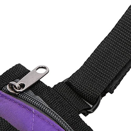 Uxsiya Bolsa de silla de ruedas ligero Organizador de silla de ruedas para silla de ruedas eléctrica (púrpura)