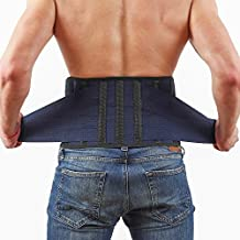 Back Support Lower Back Brace Provides Back Pain Relief - Breathable Lumbar Support Belt for Men and Women Keeps Your Spine Straight and Safe - Large Size 38''- 45