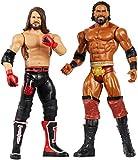 Wwe Coffret 2 Figurines Articulées Aj Styles & Jinder Mahal de 17Cm en Tenue de Combat, Jouet pour Enfant, Gbn60