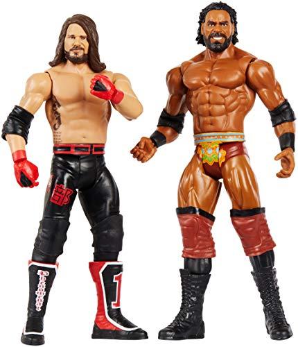 WWE GBN60 - 15 cm Basis Figuren 2er-Pack Brock Lesnar und AJ Styles