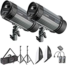 Neewer Photo Studio Strobe Flash Light and Softbox Lighting Kit:(2)300W Monolight Flash,(2)Light Stands,(2)Softbox,(1)RT-16 Wireless Trigger,(1)Bag for Video Shooting,Location and Portrait Photography