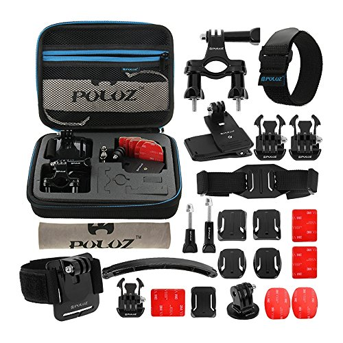 MEGA-Set Outdoor Sports Zubehör Kit für Olympus TG-Tracker Rollei 300 300 Plus 415 425 Qumox SJ6000 Halter Halterung Arm Hand Kopf Helm Lenker