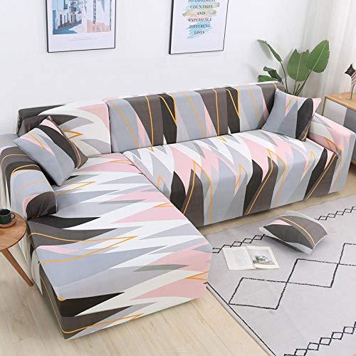 Sofá y Asiento Protector del Polvo,Funda de sofá de Esquina elástica Universal, Funda de sofá seccional-Color 7_4 plazas 235-300cm