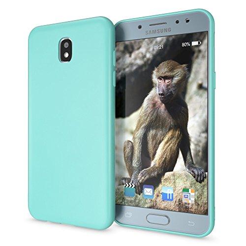 NALIA Custodia compatibile con Samsung Galaxy J3 2017 (EU Model), Cover Protezione Ultra-Slim Case Protettiva Morbido Cellulare in Silicone, Gomma Telefono Smartphone Bumper Sottile, Colore:Turchese