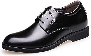 [AcMeer] ビジネスシューズ 外羽根 紳士靴 メンズ シンプル 通勤 防滑 インヒール フォーマル オフィス レースアップシューズ ブラック