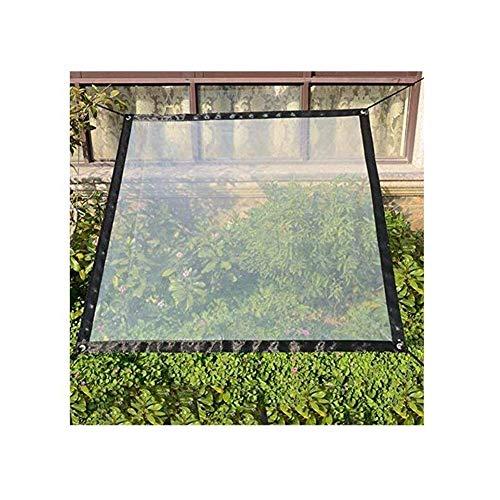 ZHUAN Cubierta de Polvo de Lona Transparente de Vidrio Cobertizo para Plantas Carpa Impermeable Muebles de protección y Equipos de jardinería Patio al Aire Libre, 26 tamaños (Color: Transparente,