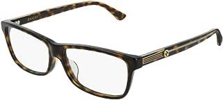d8a5dda377 Gucci GG0378OA 002 Eyeglasses Dark Havana Brown Frame 55mm