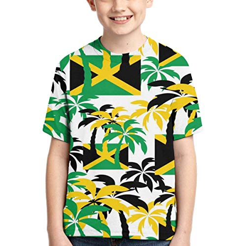 XCNGG Niños Tops Camisetas Youth Short Sleeve T-Shirts Blue Lightning Thunder Storm Kids Casual Graphics Tees