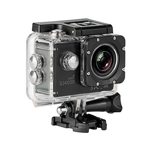 SJCam SJ4000 WiFi - Videocámara deportiva (LCD 2', 1080p, 30 fps, sumergible hasta 30 m) color negro, - [Versión español]