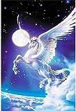 LVGUMM - Kit de pintura por números para adultos y niños, para hacer bricolaje, set de regalo para decoración de casa, diseño de caballo volador blanco, 16 x 20 pulgadas