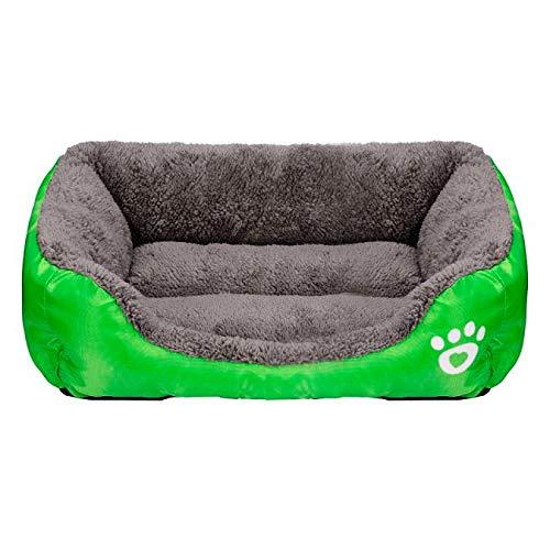 Yowablo Haustier Hund Katze Bett Welpe Kissen Haus weiche warme Hundezwinger Mat Blanket (58 * 41 * 14cm,2- Grün)
