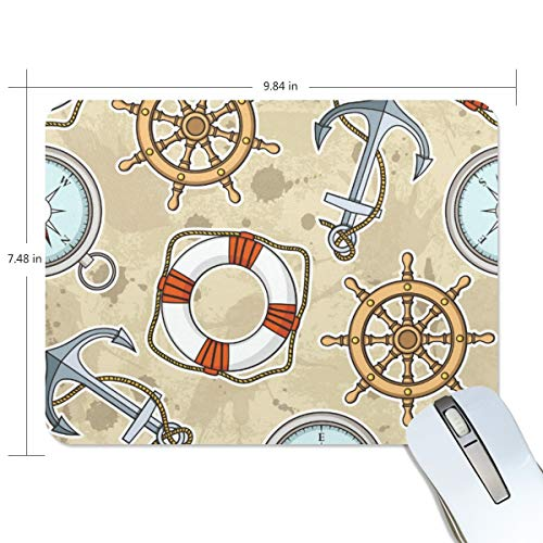 playroom Game Mouse pad Design Anchor Life Buoy Compass Extended Ergonomic for Computers Mouse mat Custom-Made