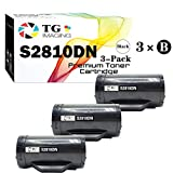 (3-Pack) TG Imaging Compatible Dell S2810DN Toner Cartridge S2810X (6000 Pages) Replacement for H815DW S2810DN S2815DN Printer