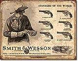 EffortLife Smith & Wesson Revolver Manufacturer Retro Wall Decor Vintage Bar Signs Tin Sign 12 X 8 Inch
