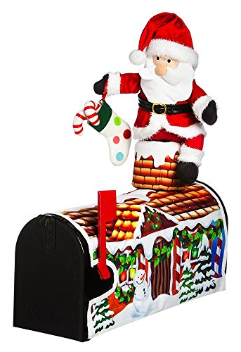 Santa Claus is Coming 3D Magnetic Christmas Mailbox Cover