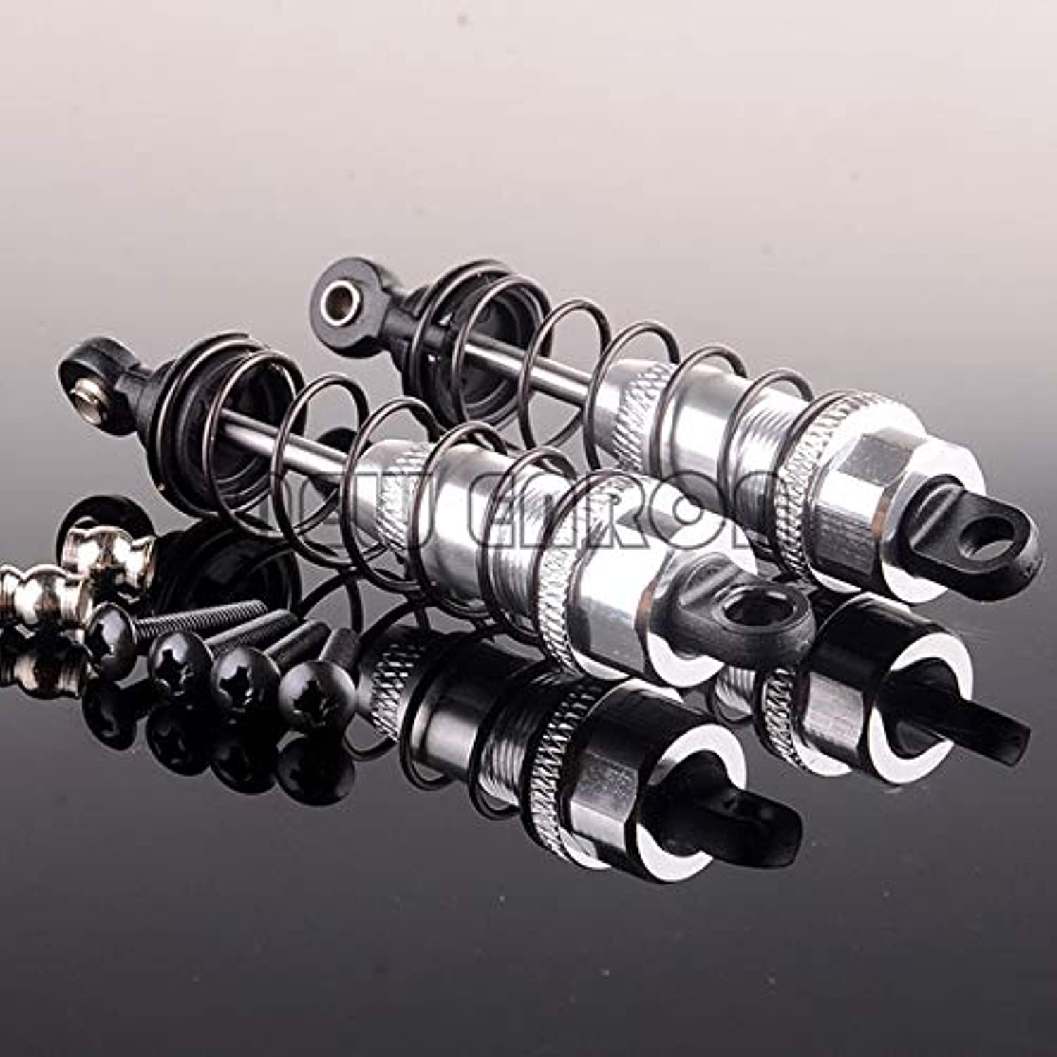 New Enron 2P 1 10 Aluminum Oil Adjustable Shocks RC 85MM for HPI HSP Tamiya CC01 Shock Absorber   Silver
