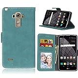 Ycloud Portefeuille Coque pour LG G4 Stylus Smartphone, Mate Texture PU Cuir Flip Magnétique Housse...