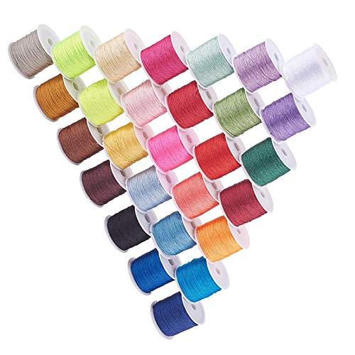 RENSHENKTO Color Jewelry Nylon Cord Chino anudado a mano Stringroll hilo de cristal elástico transparente cuerda