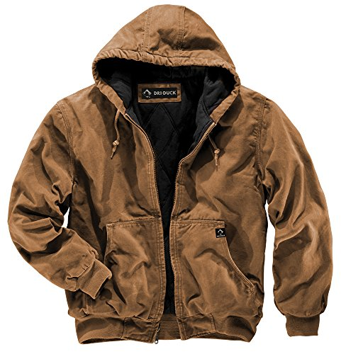 DRI Duck Men's 5020 Cheyenne Hooded Work Jacket, Saddle, 3X-Large