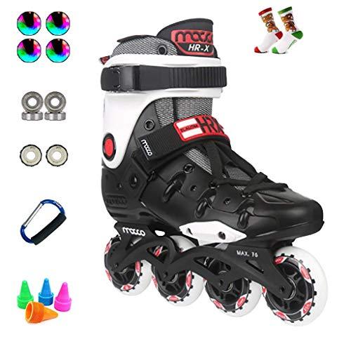 Taoke Performance Inline Skates, Erwachsene Profi Roller Skates for Anfänger Inline Skates, Geschwindigkeit ?? Skaten Schuhe 36-45 Yards (Farbe: weiß, Größe: EU 37 / US 5 / UK 4 / JP 23,5cm) dongdong
