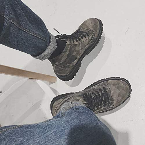 Shukun Bottes pour hommes Martin bottes - Bottes de Camouflage pour Hommes - Chaussures Hautes - Bottes Jeunes - Outillage décontracté - Bottes Militaires