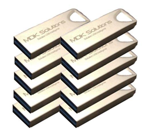 Lote de 10kryptkey Llave USB 3.0, encriptación confidencial, Disco Virtual, Mac/PC, De MDK Solutions, Origine France Garantie (16.00GB)