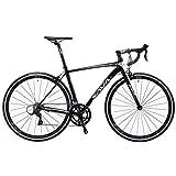 Adult Rennrad, Ultra-Light-Fahrrad-Aluminiumrahmen mit Doppel-V Brake, Carbon-Faser-Fork City Utility-Bike, ideal for unterwegs oder Dirt Trail Touring, grau, 18 Geschwindigkeit FDWFN