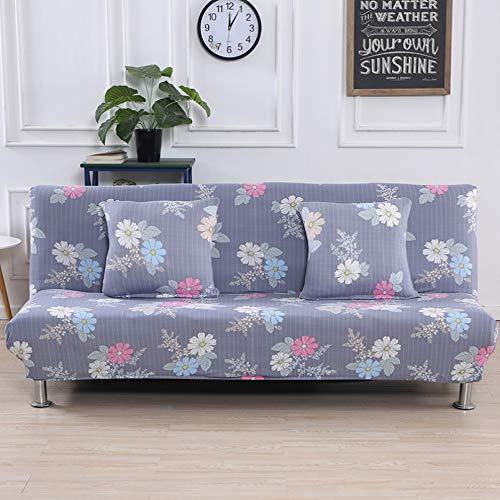 SSDLRSF Fundas sofá Funda de sofá Cama Estampada elástica de 185-215 cm sin reposabrazos Funda de sofá Ajustada Funda elástica Funiture Fundas Flexibles para sofá Toalla