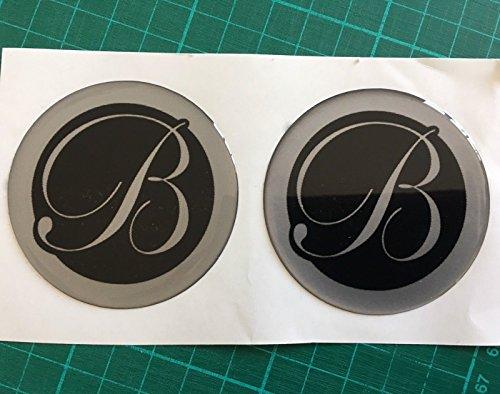 SCOOBY DESIGNS Swift Bessacarr Centre de Roue Cap pour Caravane Logo Badge 60 mm Noir et Argent X2 Dent Rayures du Badge