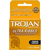 Trojan Stimulations Ultra Ribbed Lubricated Condom, 3 Count