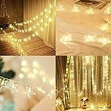 SALCAR Luces de Estrella LED 5m USB + Cable de alimentación de 1.5m, Cadena Decorativa de 40 LED para Boda, Vacaciones, Fiesta, Navidad, etc. - Blanco cálido