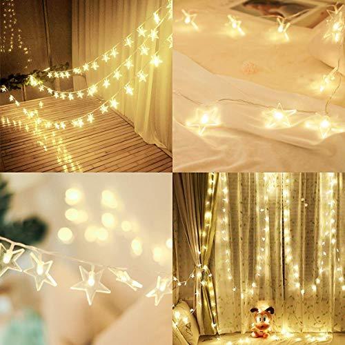 Catena Luminosa 5m 40 LED Luci Stringa Stelle USB LED Stringa di Luci, Decorativa da Interni e Esterni per Festa, Giardino, Bar, Natale, Halloween, Matrimonio Bianco Caldo