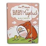 Mein 1. Kalender Baby Tagebuch, Babys erstes Jahr, mit Entwicklungsberater Babyratgeber Geschenk zur Geburt 365 Tipps und Ratschläge A5 Rosa