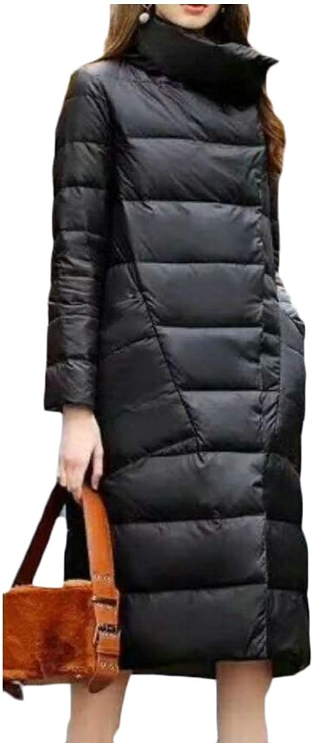 Desolateness Women's Puffer Coat Winter Long Thick Packable Down Jacket