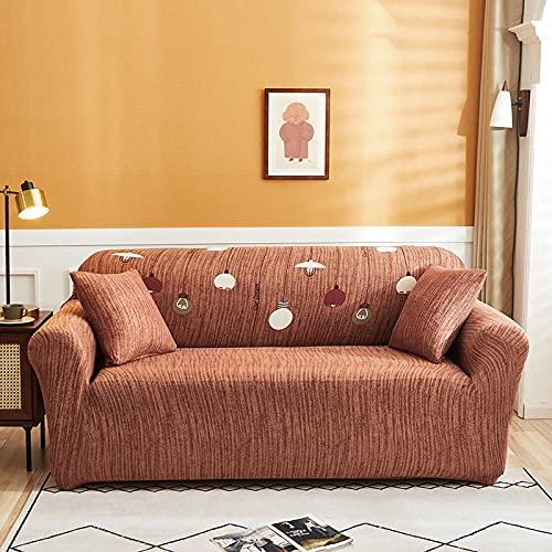 Funda De Sofá 1 Plazas Naranja Fundas Sofa Elasticas Cubre Sofa Antideslizante Protector Funda para Sofá con Diseño Moderno Bombilla Universal Funda Cubre Sofas
